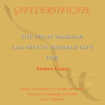 Feel good gift certificate