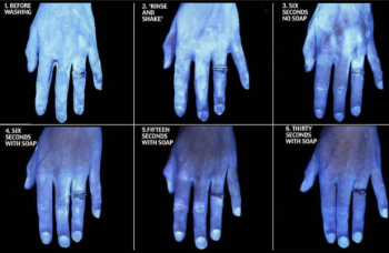 hand washing with soap during coronavirus outbreak