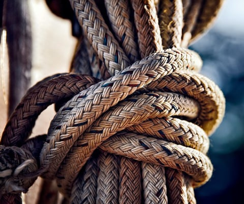 knots in ropes are different to knots in muscles
