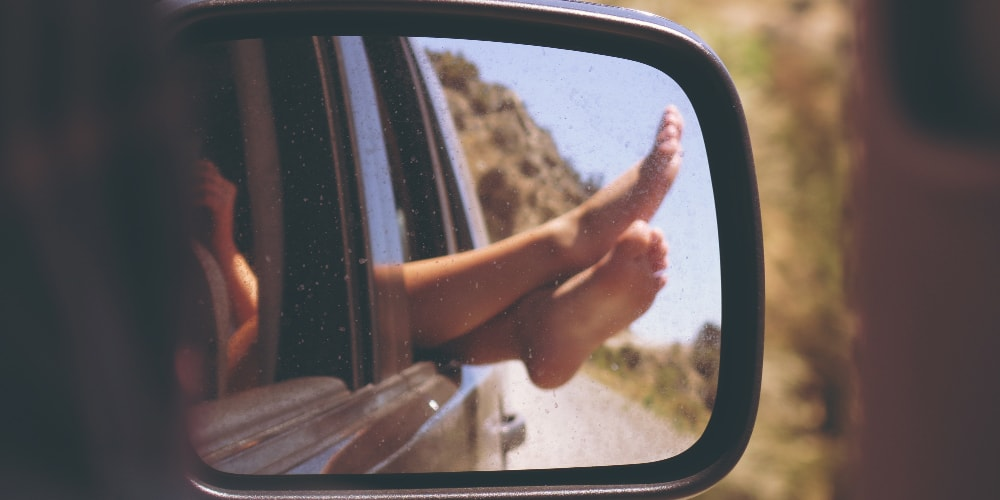Doing things like hanging your feet of your car window can reduce stress and cortisol