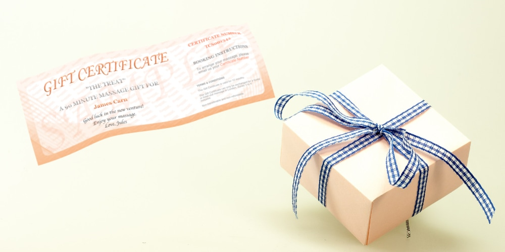Equally suitable for him or her, a massage gift certificate can save the day at the last moment.
