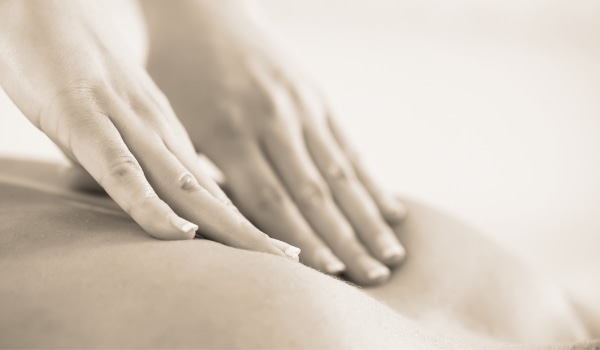 Lomi Lomi Massage applied to the back of body